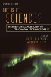 Cover image of book But Is It Science?: The Philosophical Question in the Creation/Evolution Controversy.  Click to go to it at Promethesis Books.